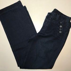 Lauren Jeans Co LRL Sailor Style Dark Wash Jeans